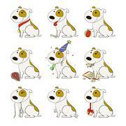 Funny dogs set  Piirros