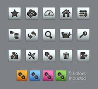 FTP & Hosting Icons // Satinbox Series - stock illustration