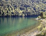 Argentina. View of a lake in Patagonia. Stock Photos