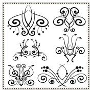 Vintage decorative elements set. Stock Illustration