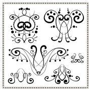 Vintage decorative elements set 2. Stock Illustration