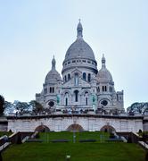 Paris - France Basilique Du Sacre Coeur. - stock photo