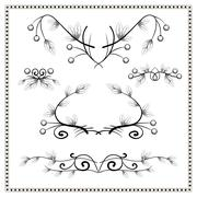 Vintage decorative elements and dividers 2. - stock illustration