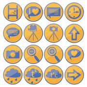 Flat design GUI icon set 1. - stock illustration