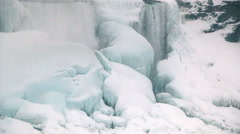 Niagara Falls Frozen Over,  Historic 2015 Winter, View 14 Stock Footage