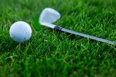 Golf background - stock photo