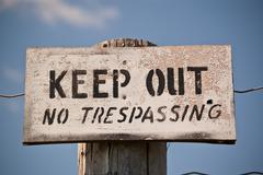 Keep Out - No Trespassing Sign Stock Photos
