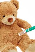 Teddy bear with injection Kuvituskuvat