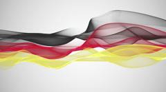 Wonderful german color flag video animation for sport events, loop HD 1080p Stock Footage