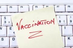 Note inoculation in english Stock Photos