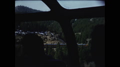 Side View from Zephyr Train Viewing Car Stock Footage
