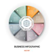 Diagram cyclic process, business infographic for success project Stock Illustration