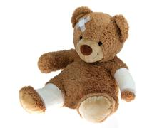 bear with bandage after an accident - stock photo