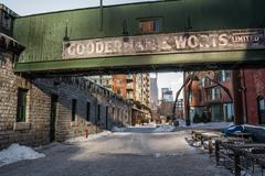Distillery District Toronto Winter Kuvituskuvat