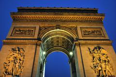 Paris - France Arc de Triomphe Stock Photos