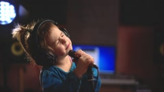 Girl is singing - stock footage