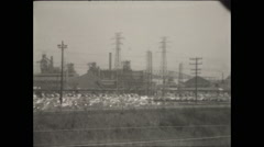 Steel Mill Exterior in Gary, Indiana Stock Footage