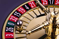 Cylinder of a roulette game of chance Stock Photos