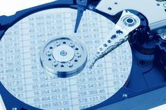 hard disk of a computer. accounting - stock photo