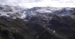 Day light spain ski resort sierra nevada 4k panorama Stock Footage
