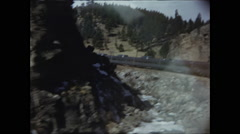 California Zephyr Navigates the Rockies Stock Footage
