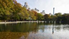 Central Park Conservatory Water Time lapse Stock Footage