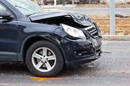 Body damage in car accident Stock Photos
