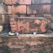 Buddha's Foot at Prasat Hin Phanom Wan - stock photo