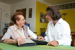 Nurse and senior citizen Stock Photos