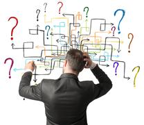 Maze of questions - stock photo