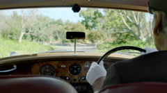 Rolls Royce Driving Interior - stock footage