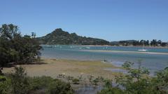 Tairua bay, Coromandel Peninsular, New Zealand Stock Footage