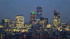 Night to Day City Of London Time Lapse Stock Footage