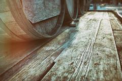 Barrel Casks Wood - stock photo