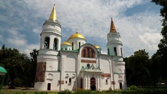 Saviour Transfiguration Cathedral in Chernigov, Ukraine Stock Footage