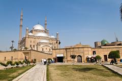 Egypt, cairo. mohammed ali mosque. outside. Stock Photos