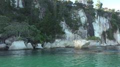 Rock formations, Whitianga marine reserve, Coromandel Peninsular Stock Footage