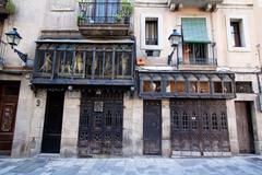 Barcelona - placa del rei Stock Photos