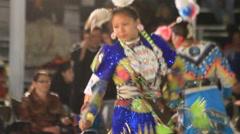 Jingle dancer dances Stock Footage
