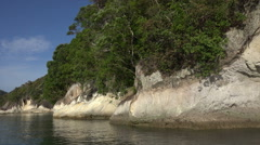 Rock formations, Whitianga marine reserve, Coromandel Peninsular Stock Footage