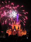 The famous Wishes nighttime spectacular fireworks - stock photo