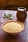 Popped Quinoa Cereal - stock photo