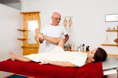 relaxation through massage and relaxation - stock photo