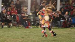Male sneak up pow wow dancer Stock Footage