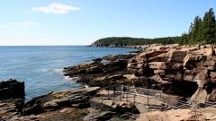 Acadia National Park Thunder Hole - stock footage
