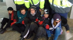 Arrests at AIPAC protest Stock Footage