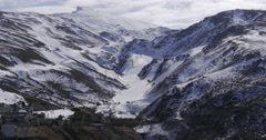 Sun light day time spain ski resort pistes  sierra nevada 4k Stock Footage