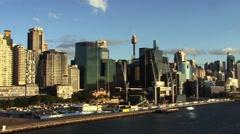 Sydney Australia Harbour Sunset Stock Footage