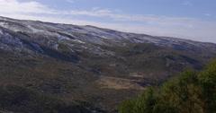 Sunny day winter start spain mountain range 4k sierra nevada Stock Footage