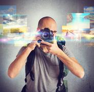 Passion for photography - stock photo